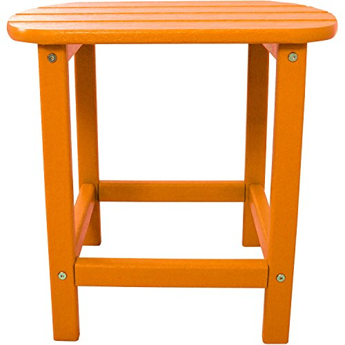 Hanover Outdoor All-Weather Side Table, Tangerine