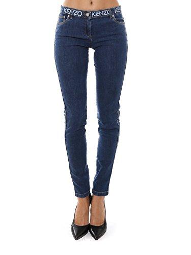 Femme Bleu Jeans Coton Kenzo F752PA2506EF76 fwqxCfda