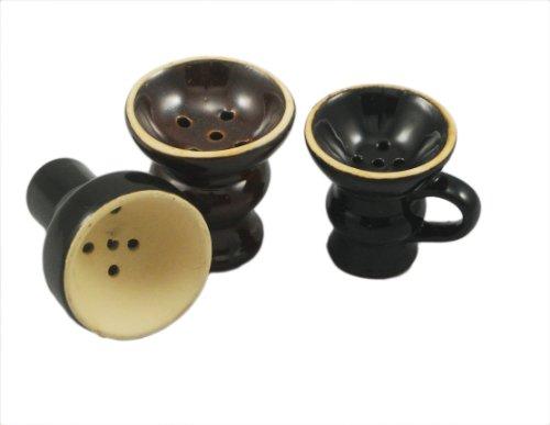 Hookah Shisha Clay Bowl Combo Hooka Sheesha Bowls Package 3 Nargila Clay Bowls by Hookah Accessories