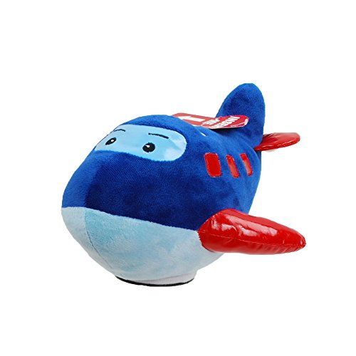 Airplane Bank (Linzy Plush Airplane Coin Bank with Shuuussh Sound, Blue 8