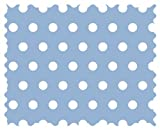 SheetWorld Polka Dots Blue Fabric - By The Yard