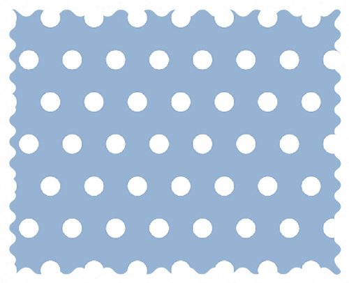 SheetWorld Polka Dots Blue Fabric - By The Yard by SHEETWORLD.COM