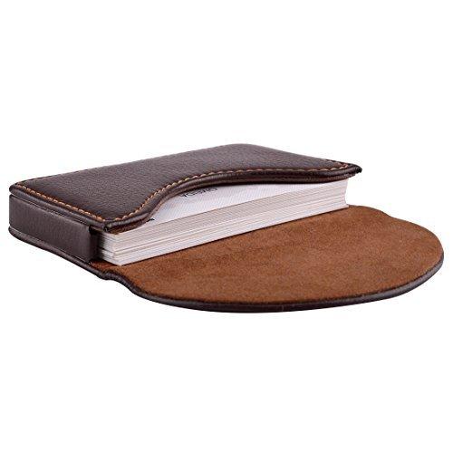 Leather Pocket Business Card Holder - 5