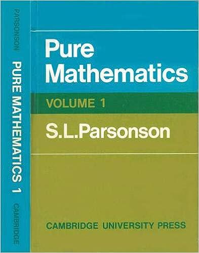 Pure mathematics 1 v 1 s l parsonson 9780521076838 amazon pure mathematics 1 v 1 fandeluxe Image collections