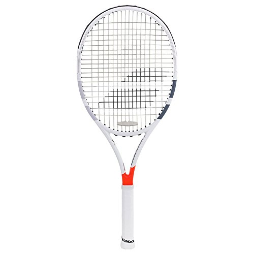 (Babolat Pure Strike 18x20 Gray/Orange Tennis Racquet (4 3/8 Inch Grip) Strung with Silver String (Dominic Thiem's Racket))
