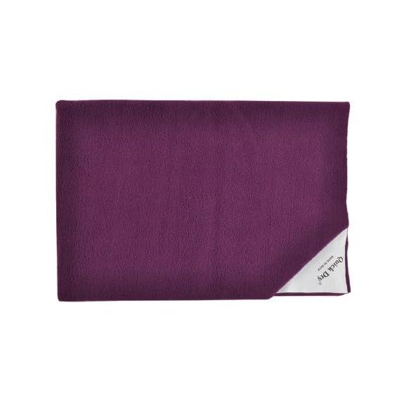 Quick Dry Plain Double Bed (Plum)