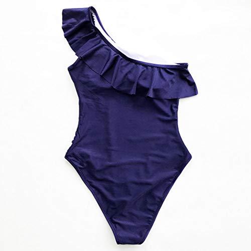 Blu Da Bagno Spalle Donna Xxl Scuro Scoperte Shengyunpio 2019 Costume Con Intero 0qwHf1p