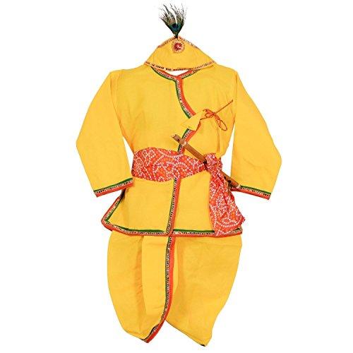 Baby Krishna Costume (ahhaaaa's Angrakha, Dhoti Pant for Boys (24))