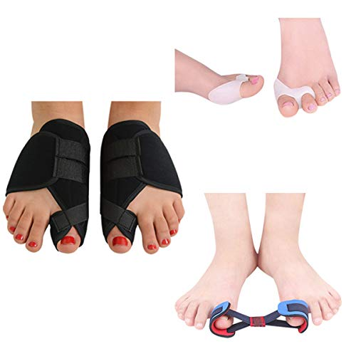 Orthopedic Bunion Corrector - Splint for Rigidus Relief, Protector Pads and Hallux Valgus, Night Time Support Kit, Big Toe Separators Spacers and Straighteners, Hammer Toe Support, Surgery Treatment