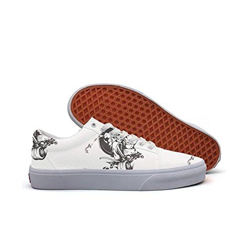 Ouxioaz Womens Skateboarding Shoes Canvas Camo Crocodile Sport Sneaker