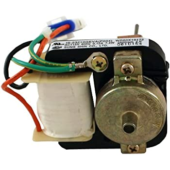 Ge wr60x10172 refrigerator evaporator fan for Ge refrigerator evaporator fan motor problems