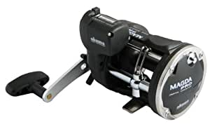Okuma Magda Pro Line Counter Levelwind Trolling Reel, Small, Black/Silver, MA-15DX
