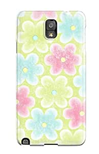 IglqcOD2441YTRef Case Cover, Fashionable Galaxy Note 3 Case - Funky Pastel Flowers