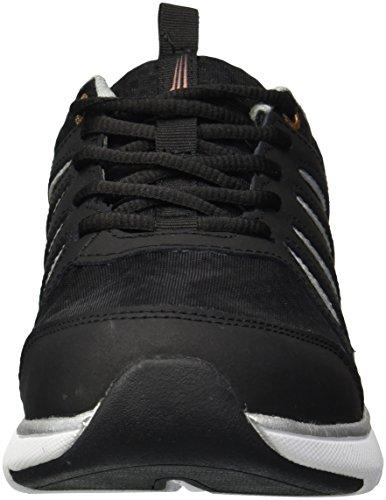 Koperpas Dames Sneaker Met Vetersluiting Zwart