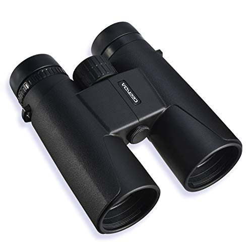 12x42 Roof Prism Binoculars for Adults - Binoculars with Low Light Night Vision, BAK4 Prism FMC Lens with Smart Phone Adapter Neck Strap Carrying Bag, Focus for Bird Watching/Hunting/Concerts/Match