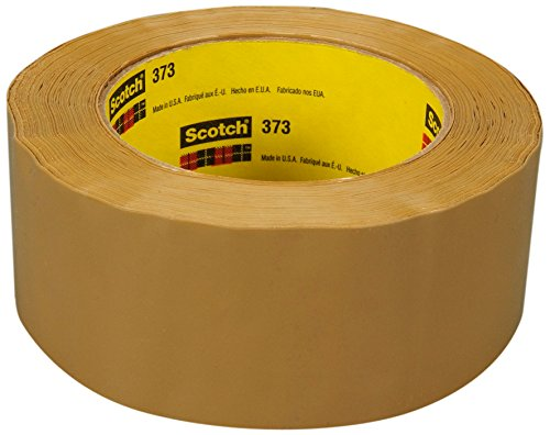 3M Tan Scotch Box Sealing Tape 373, 72 mm x 100 m (Pack of 24) by 3M