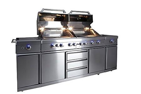 Outdoorküche Mit Spüle Blau : Allgrill gasgrill outdoorküche extrem set mit grillspieß und