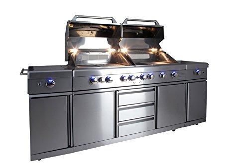 Outdoorküche Gasgrill Reinigen : Allgrill gasgrill outdoorküche extrem set mit grillspieß und