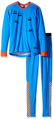 Helly Hansen Junior Kids HH Active Flow Base Layer Bottom Set, Racer Blue/Evening Blue, Size 16 by Helly Hansen