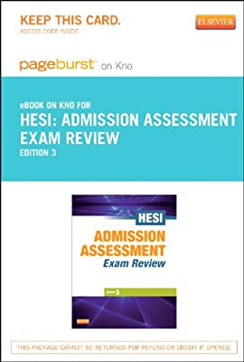 Admission Assessment Exam Review - Elsevier eBook on Intel Education Study (Retail Access Card), 3e