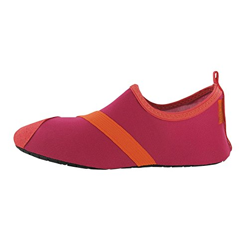 Collections Etc FitKicks Active Lifestyle Slip-On Footwear Fuchsia ZduzMVsGhc