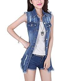 Women's Casual Lapel Slim Long Sleeve Denim Outercoat Jacket Windbreaker