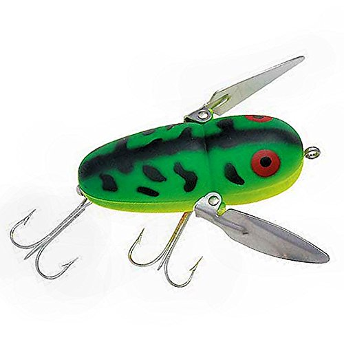 Heddon Tiny Crazy Crawler Fishing Lures (Fluorescent Green Crawdad, 1 3/4-Inch)