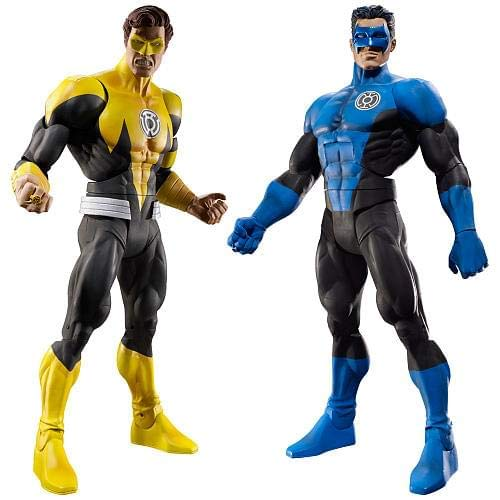 DC Universe Collector Classics Yellow Lantern Hal Jordan /& Blue Lantern Kyle Rayner Figures