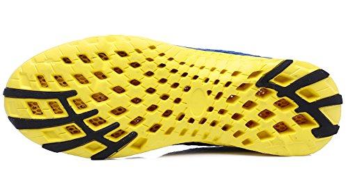 Ausom Mens Andas Löparskor Gå Strand Aqua Utomhus Vatten Regniga Träning Athletic Driv Sneakers Royalblue