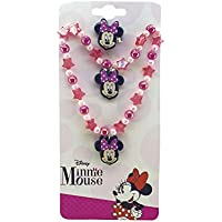 Jg De Colar/Anel/Bracelete - Minnie, Disney, Multicor