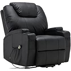 Tangkula Electric Lift Power Recliner Chair Heated Massage Sofa Lounge w/ Remote Control
