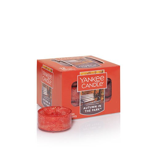 Yankee Candle Autumn in The Park Tea Light Candle, Fresh Scent