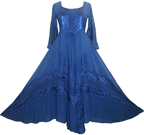 2e77eff6d11 106 DR Renaissance Victorian Embroidered Dress   Navy Blue  Large . Themes Wedding  Dresses ...