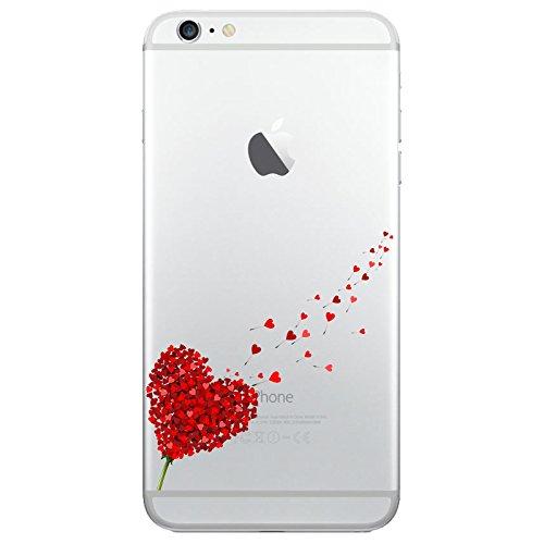 iPhone 8 Handyhülle Schutzhülle Hülle Silikon Cover Case Ultra Dünn Slim Backcover TPU transparent Herz 2 Hdr1k47g