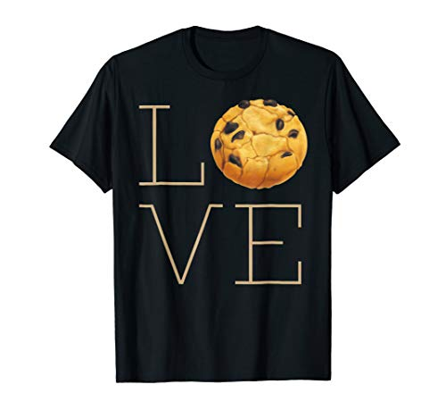 Cute Funny I Love Chocolate Chip Cookies T Shirt Gift