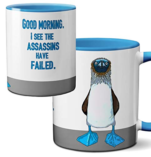 Blue Footed Boobie Assassin Mug by Pithitude - One Single 11oz. Blue Coffee Cup