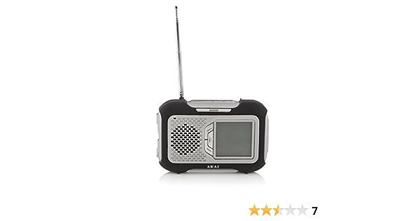 Radio Digital Am/FM Pantalla LCD con memorias, Alarma, Sleep y termómetro: Amazon.es: Electrónica