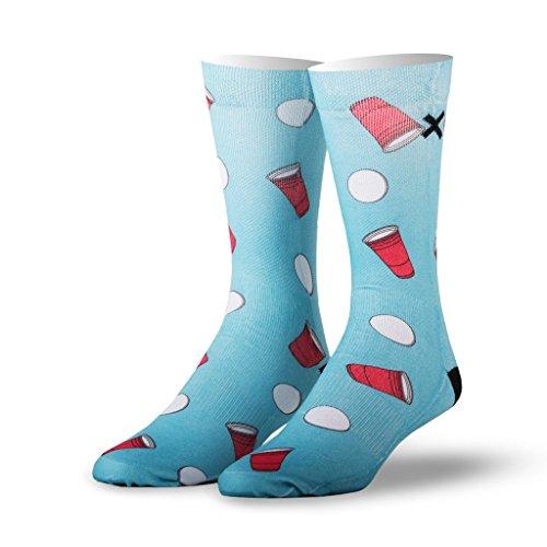 Odd Sox King Men's Beer Pong Socks, Fits Size 6 - (Sox Beer)