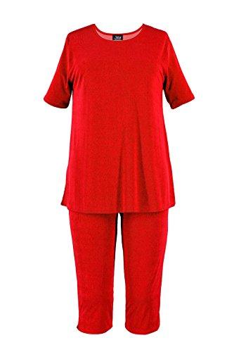 Jostar Stretchy Capri Pant Set with Short Sleeve