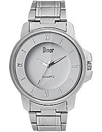 Dinor Silver Round Dial Quartz Analog Men's Wrist Watch...