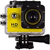 1080P Action Sports Camera -Self Timer,Tuscom Waterproof ( 30 Meters Under Water) Action Camera (1.5 Inch Ultra HD Screen)Camcorder HD 1080P Mini DV Cam (Yellow)