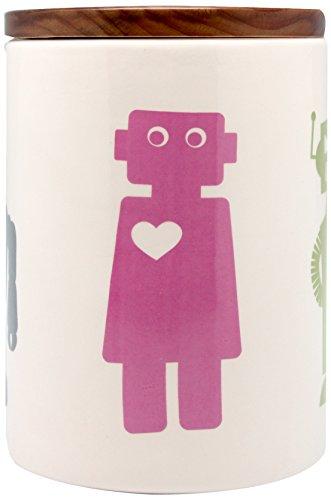 Aimee Wilder Treat Jar, 8-Inch, Robot (8
