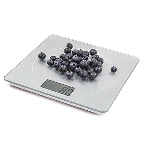 Nourish Digital Precision Kitchen Scale, Large Glass Top and Display, Food Weight (Glass Kitchen Scale)