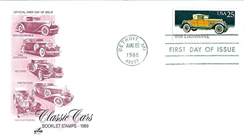 First Day Cover 1988 US#2381 Classic Cars Series (1928 Locomobile) 25 Cent Postage (2381 Series)