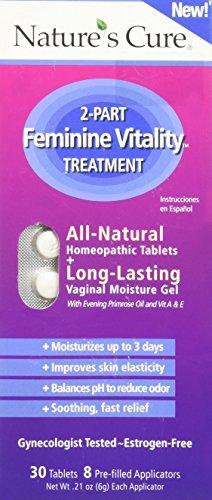 (Nature's Cure 2-Part Feminine Vitality Treatment, None, Purple, 0.275 Ounce)