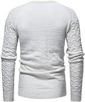 GAGA Mens Long Sleeves Basic Knit Crewneck Pullover Slim Sweater