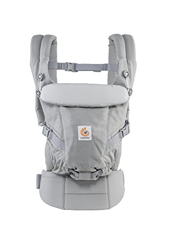 Ergobaby Adapt Award Winning Ergonomic Multi-Position Baby Carrier, Newborn to Toddler, Pearl Grey