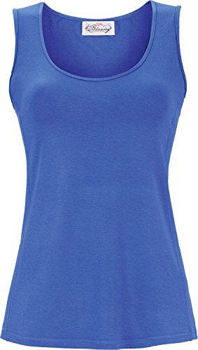 Ringella Bloomy Damen T-Shirt ohne Arm summer blue48 7251416