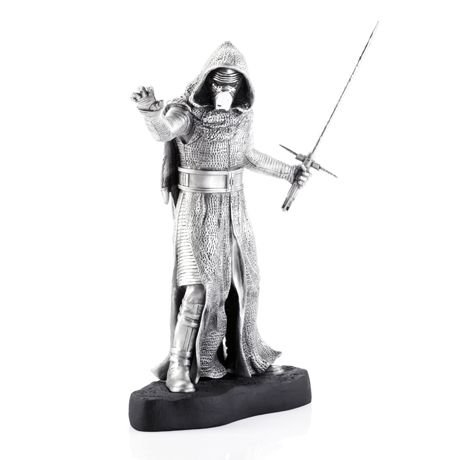 [Royal Selangor Hand Finished Star Wars Collection Limited Edition Kylo Ren Figurine - Officially Licensed by Walt Disney (Lucasfilm) 16.5 cm (L) x 12 cm (W) x 24 cm] (Father Son Star Wars Costumes)