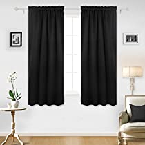 Deconovo Home Decorations Rod Pocket Curtains Blackout Curtains Thermal Insulated Room Darkening Curtains 1 Pair